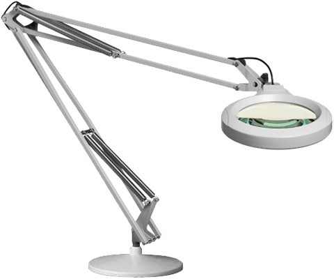 Luxo LFM LED Lighter-Duty Round Lens Magnifier