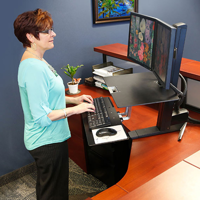 Ergotron WorkFit-S Dual Monitor with Worksurface+