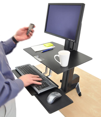 Ergotron WorkFit-S Single LD with Worksurface+