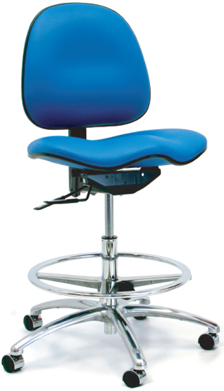 Gibo Kodama Stamina 7300 Series Saddle Seat Medium Bench Height Chair