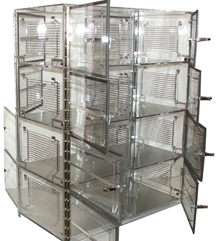 8 Door Pass-Thru Desiccator Cabinet Chamber for Gas Input