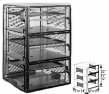 18x18x36 Static Dissipative Desiccator Cabinet 3 Doors