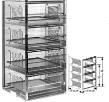 24x18x48 Static Dissipative Plenum Wall Desiccator Cabinet 4 Doors