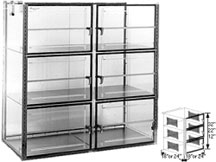 48x18x36 Static Dissipative Plenum Wall Desiccator Cabinet 6 Doors