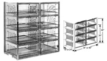 48x18x48 Static Dissipative Plenum Wall Desiccator Cabinet 8 Doors