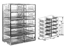 48x18x60 Static Dissipative Plenum Wall Desiccator Cabinet 10 Doors