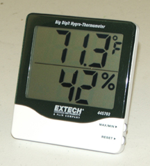 Digital Humidity and Temperature Indicator with 1 inch Digits