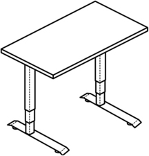 Workrite Cascade Counterbalance Rectangular Workcenters