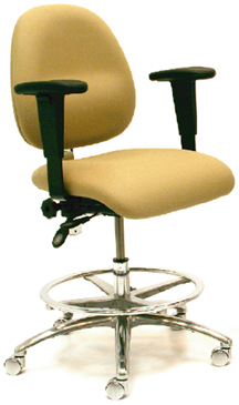 Gibo Kodama ESD Synchron 4300 Series Medium Desk Height Chair