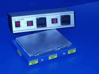 HP2-608-P2 Two Heated Zones Industrial Hot Plate Each 4 in X 6 in