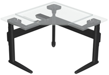 SpaceCo ILSF3 Three ILS freestanding corner (Table Top Not Included)