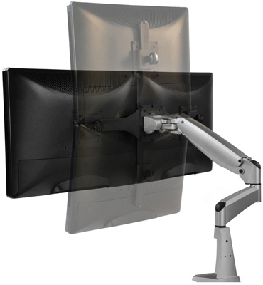 Workrite Poise - Twin Monitor Arm