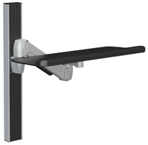 SpaceCo SA0124 SpaceArm Wall Channel Mount with 24 Inch Platform