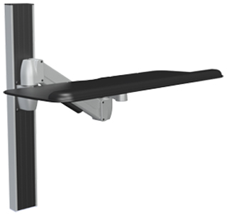 SpaceCo SA0127 SpaceArm Wall Channel Mount with 27 Inch Platform