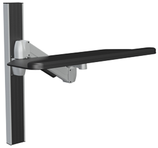 SpaceCo SA01CB27 SpaceArm Wall Channel Mount with 27 Inch Cut Corner Platform