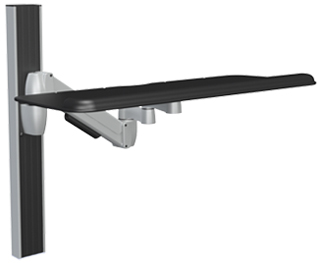 SpaceCo SA01XP27 SpaceArm Wall Channel Mount with 27 Inch Keyboard Tray