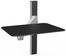SpaceCo SA01XPWS Standard Arm Wall Channel Mount with Writing Platform