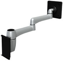 SpaceCo SP01VM Stubby Plus Monitor Arm Slatwall 1 Mount