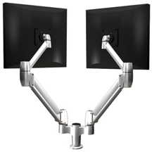 SpaceCo SS02 Sit - Stand Double SpaceArm Monitor Arm No Extension