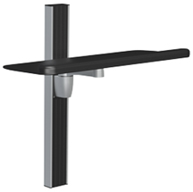 SpaceCo ST0124 Stubby Wall Channel Mount with 24 Inch Platform