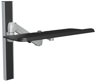 SpaceCo SX0127 Long Arm Wall Channel Mount with 27 Inch Platform