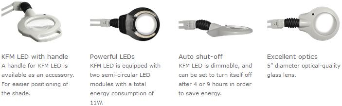 Luxo KFM LED Heavy-Duty Round Lens Magnifier Features