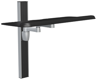 Spaceco Sp0127 Stubby Plus Wall Channel Mount With 27 Inch