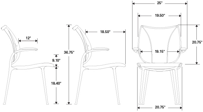 Humanscale Liberty Side Chair Specifications
